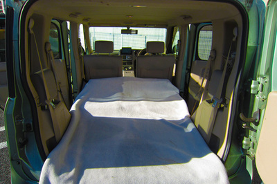Nissan Cube with seats folded