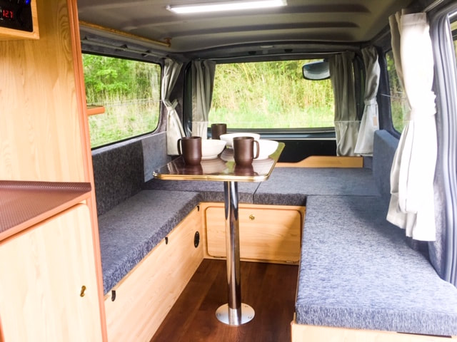 Nissan Nova campervan table and bed