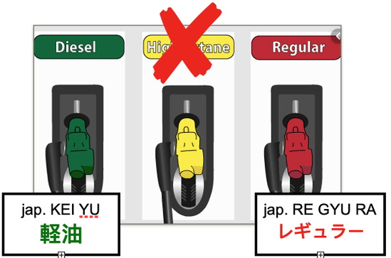 fuel types in japan