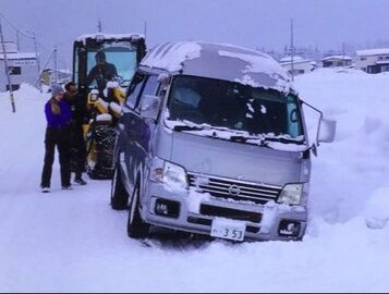 Winter Accident Nissan