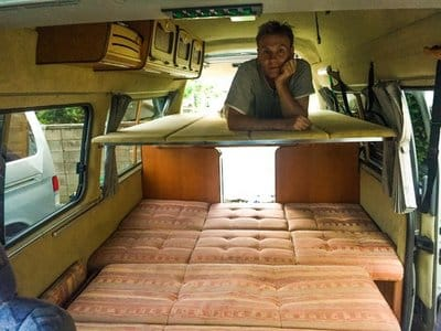 Nissan Caravan Bross campervan upper bed 2