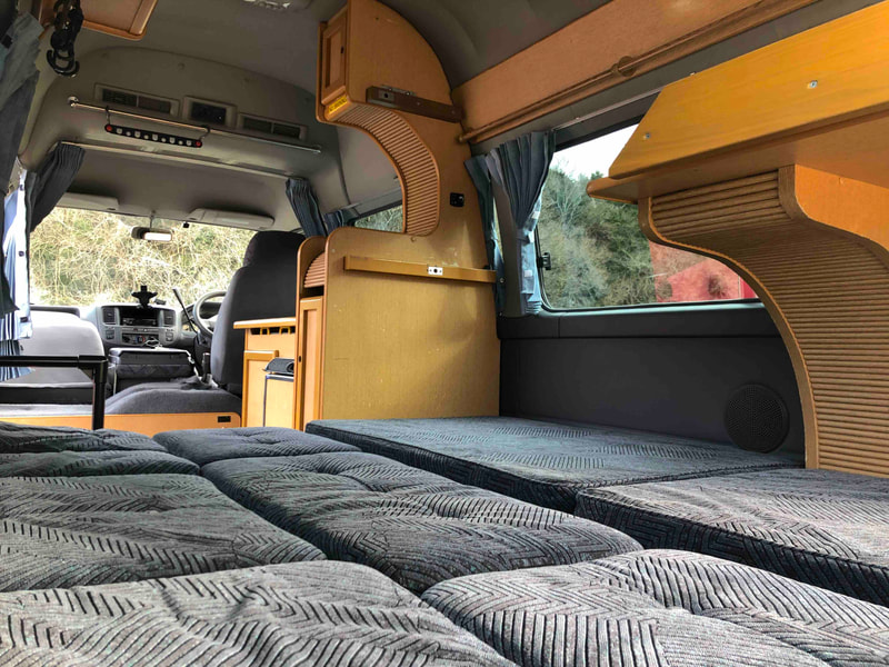 Nissan Craft Camper - bed layout (without bunk bed)